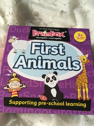First animals puzzle cards