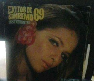 disco de vinilo lp Exitos de San Remo 69