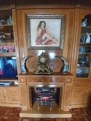 Mueble de salón de madera de raiz, urge venta