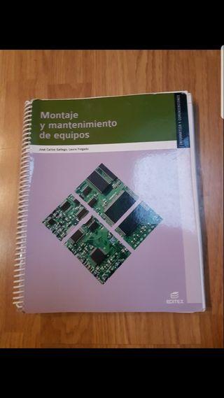 libro de montaje y mantenimiento de equipos.Editex