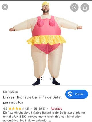 Disfraz bailarina hinchable