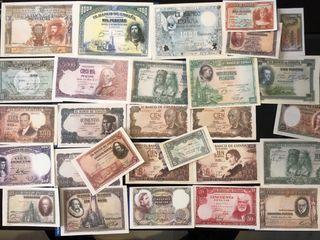 Billetes de pesetas facsímil