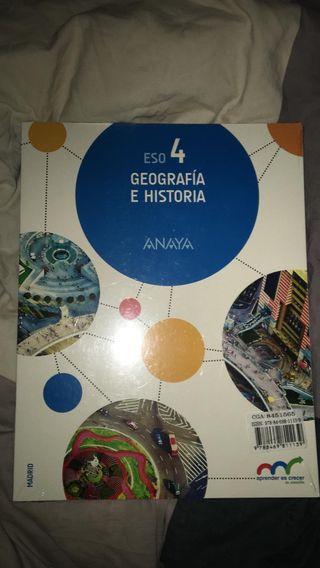 libro geografía e historia de 4 ESO