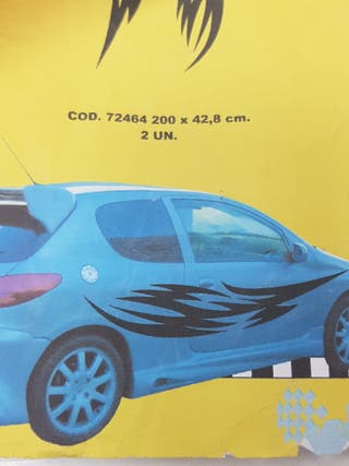 adhesivos laterales coche