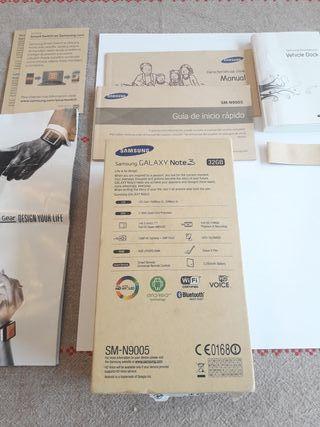 Caja y accesorios Samsung Galaxy Note3