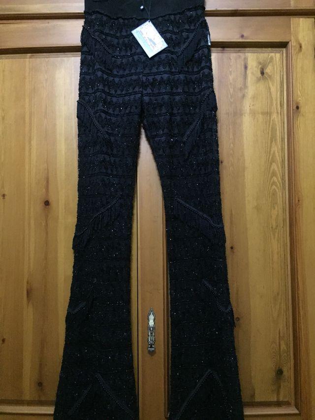 Pantalones Negros Lujo