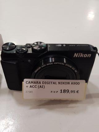 camara digital nikon a900 con cargador