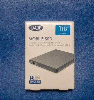 Disco duro Lacie 1TB SSD con USB-C, USB3.0