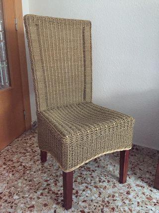 sillas de rattan