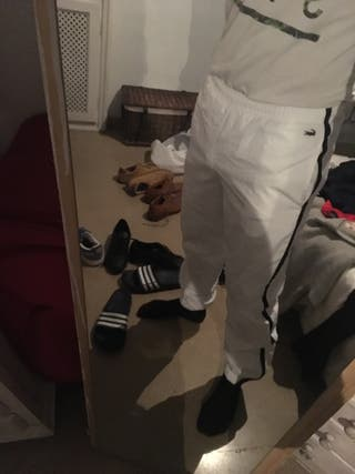 Pantalón chándal blanco Lacoste