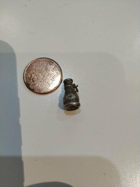 antiguo colgante de plata muy raro