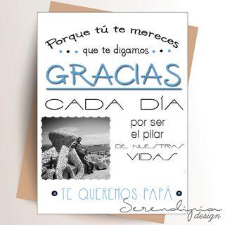 """Postal """"Gracias Papá"""""""