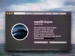 "Apple iMac i5 2.9GHz/8GB/1TB/GT 750M/21.5"""