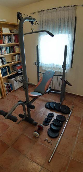 Banco de Musculación con set de pesas