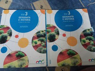 libro Geografía e historia 3eso