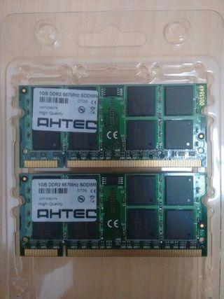 Memoria RAM DDR2 (2x1Gb)