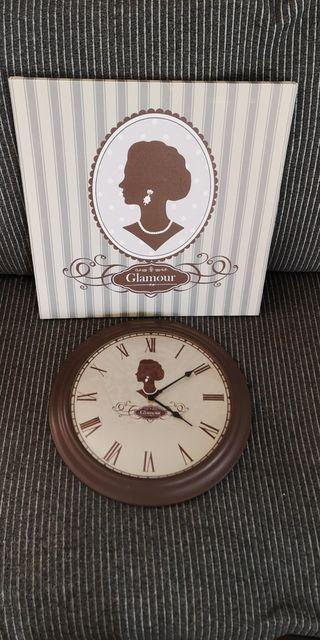 Pack de cuadro y Reloj pared