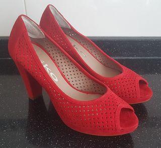 Zapatos tacon piel N° 37