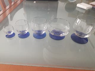 Vasos de cristal. De diseño.
