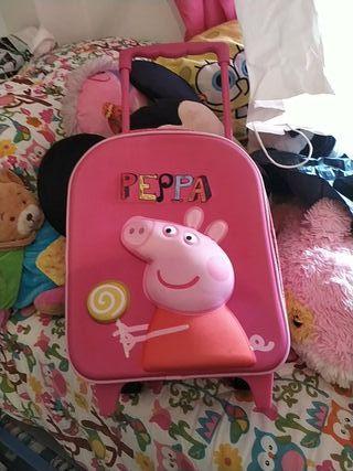 maleta pepa pig con carrito
