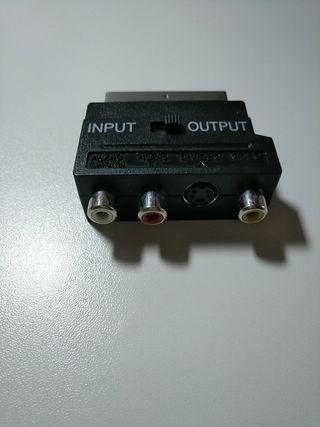 Adaptador SCART a RCA y S-Video