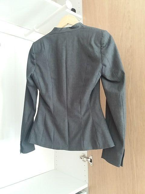 chaqueta de vestir gris h&m 34
