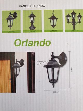 lampara de exterior sin extrenar
