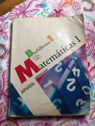 Libro de Matemáticas primero de bachillerato Anaya