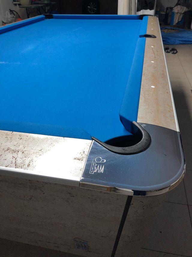 Mesa de billar SAM 8 pies con paño Simonis