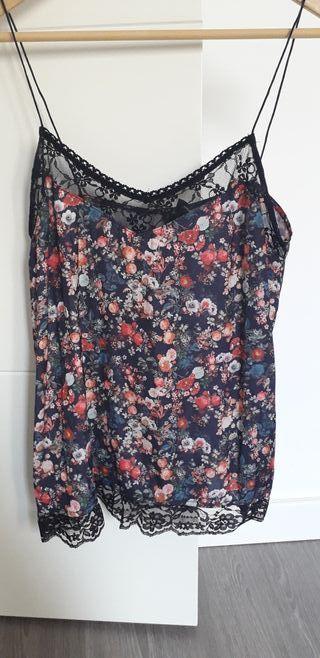 blusa tirantes flores encaje