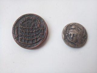 reprodución monedas antigua imperio Romano