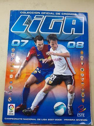 album de cromos de futbol 07/08 colecciones ESTE