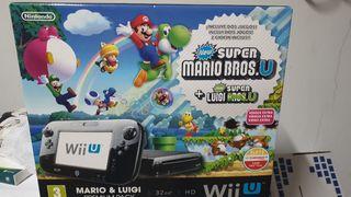 Wii U negra + juegos