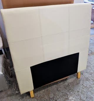 Cabecero polipiel beige cama de 90