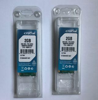 RAM DDR3 2x2gb MAC