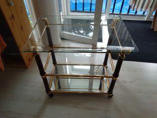 mesa cristal para televisión