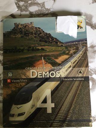 Ciencias Sociales, Historia nuevo Demos. 4Eso