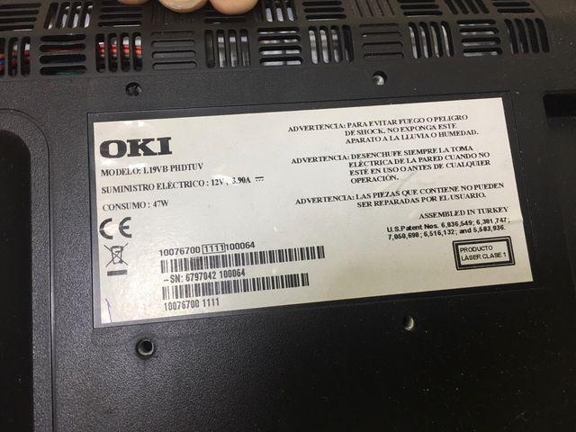 """Televisor 19"""" con DVD,salidas HDMI,PC"""
