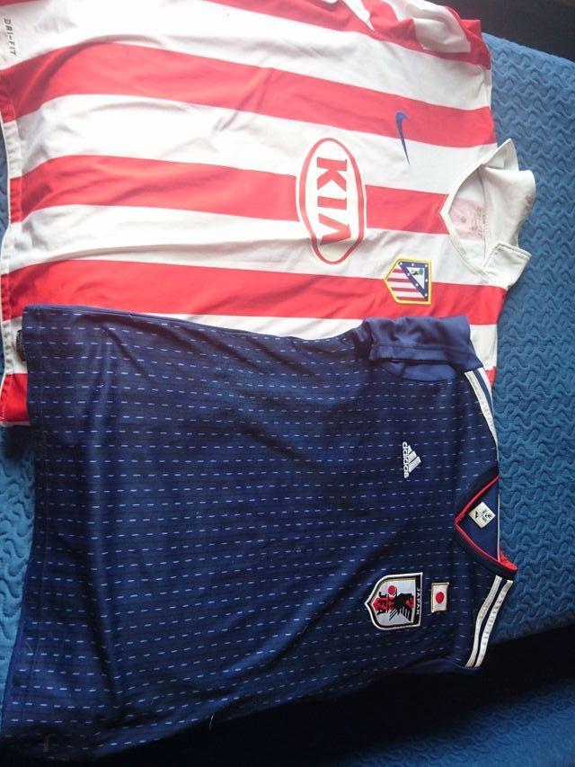 camisetas Atlético y Japón