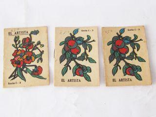 Tres cuadernillos para colorear años 60-70