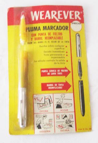 Pluma marcador Wearever años 70