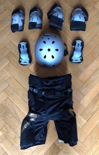 Protecciones y pantalón Mission CSX patin, hockey