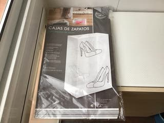 4 cajas transparentes para zapatos de tacón alto