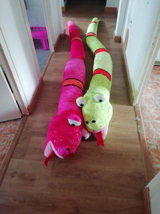 serpiente de peluche de 3 metros pack de 2,