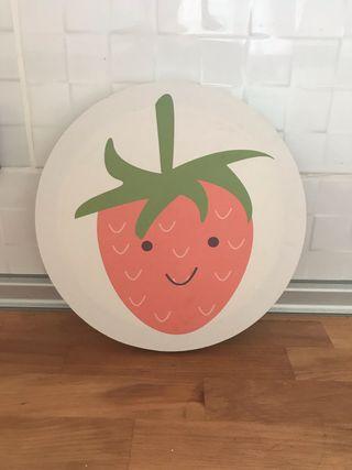 Cuadros circulares motivo frutas