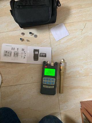 Medidor +láser de fibra óptica