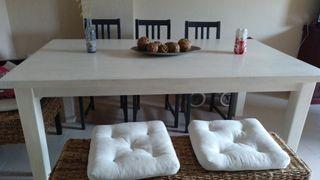 mesa comedor de madera maciza