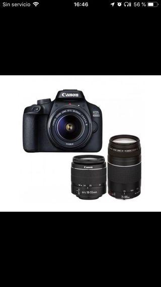 Canon 4000D mas dos objetivos