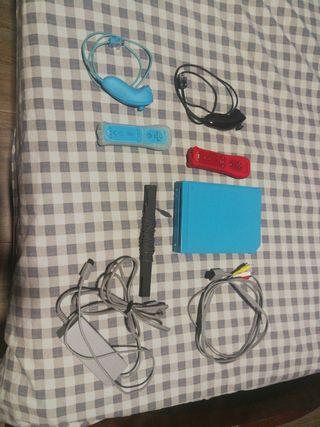 Wii azul y juegos