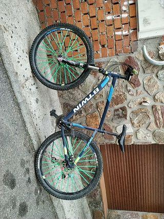 bicicleta con horquilla rock shox